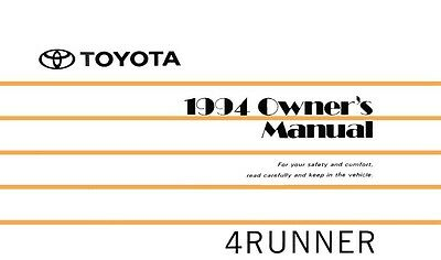 1999 toyota 4runner owners manual user guide reference operator book rh picclick com 1998 toyota 4runner limited owners manual 1998 toyota 4runner owners manual pdf