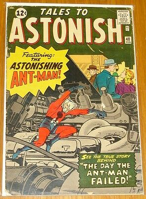 Tales To Astonish #40 Vg- (3.5) Marvel Comics Ant-Man Avengers February 1963*