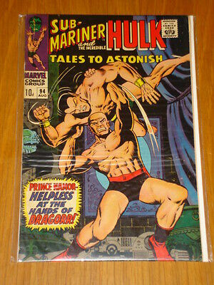 Tales To Astonish #94 Hulk Namor Aug 1967 Vg/fn (5.0) *