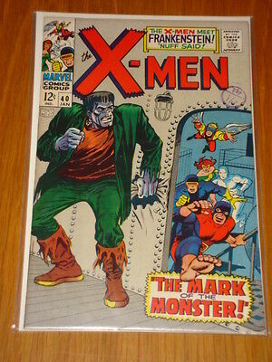 X-Men Uncanny #40 Marvel Comic Jan 1968 Vfn+ (8.5) *