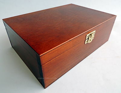 Brand New Handmade Brown Wooden Storage Box For Chess Pieces