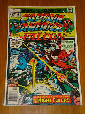 Captain America #213 Marvel Comic Near Mint Kirby September 1977
