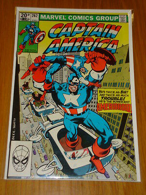 Captain America #262 Marvel Comic Near Mint Condition October 1981