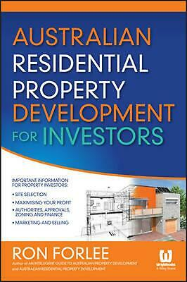 Australian Residential Property Development for Investors by Ron Forlee (English