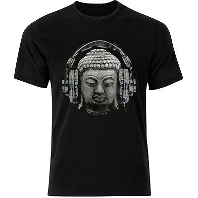 Buddha Banksy Headphones Quirky Street Art Graffiti Mens Tshirt Tee Top AB38