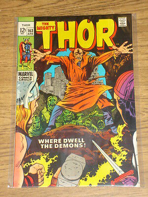 Thor The Mighty #163 Vf (8.0) Marvel Jack Kirby Warlock