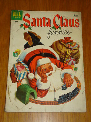 Santa Claus Funnies #1 Gvg (3.0) 1952 Dell Giant Christmas Comic E