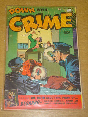 Down With Crime #4 Vg+ (4.5) Fawcett Comics May 1952