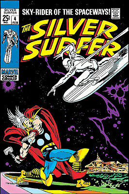 "Silver Surfer #4 20x30"" Versus Thor Classic Cover Print NOT A POSTER"
