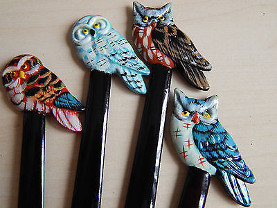 One Beautiful Owl Letter opener! Gift! Book mark! hand painted!