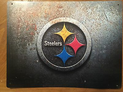 Tin Sign Vintage Pittsburgh Steelers NFL