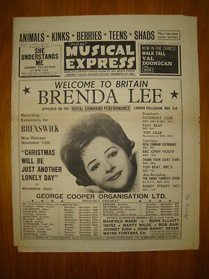 Nme #930 1964 Nov 6 Brenda Lee Animals Kinks Berries