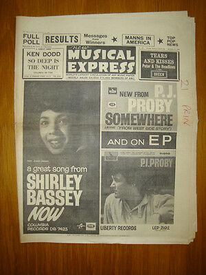 Nme #935 1964 Dec 11 Shirley Bassey Proby Manfred Mann