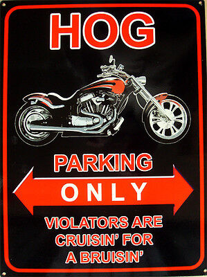 "Harley-Davidson ""Hog Parking Only"" Metal Sign"