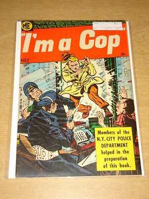 I'm A Cop #2 Fn+ (6.5) Magazine Enterprises 1954
