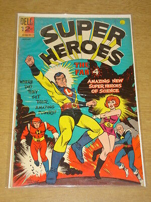 Super Heroes #1 Vg (4.0) Fab Four Dell Comics January 1967 Cover A