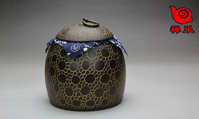 Boutique Chinese Pure Manual Yixing Zisha Tea Caddy