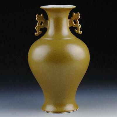 Collectible Rare Chinese Porcelain Hand-Made Antique Matte Two Ears Vase Zz • CAD $122.06