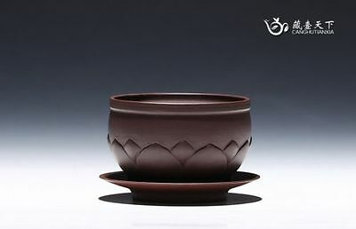 Amazing Pure Manual Yixing Zisha Flowerpot Top Grade C
