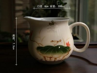 200Ml Beautiful Chinese Porcelain Hand Painted Lotus Leaf Fair Cup