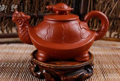 Engaging Artistic Chinese Yixing Zisha Handwork Red Turtle Teapot Aq