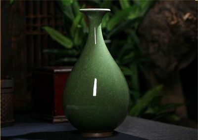 Exquisite Chinese Archaize Jun Porcelain Handmade Cutting Ice Crack Vase