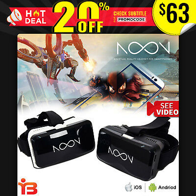 NEW NOON VR Virtual Reality Headset 3D VR Glasses Games iphone samsung Galaxy