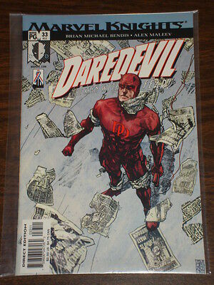 Daredevil Man Without Fear #33 Vol2 Marvel July 2002