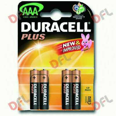 Duracell pile AAA MN2400 B4 batterie alcaline mini stilo 1,5 V pila plus power