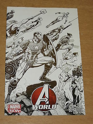 Avengers World #1 Nm (9.4) Marvel Black And White Variant Edition March 2014