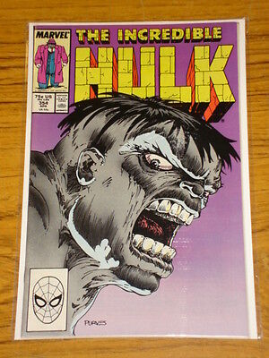 Incredible Hulk #354 Vol1 Marvel Comic Wolverine Battle April 1989