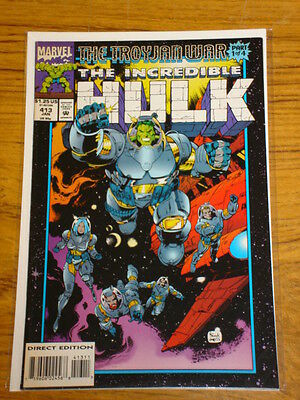 Incredible Hulk #413 Vol1 Marvel Com Silver Surfer Apps January 1994
