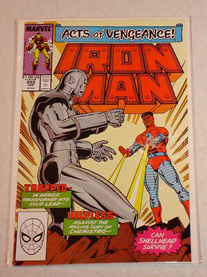 Ironman #252 Vol1 Marvel Comic Acts Of Vengeance Tie In January 1990