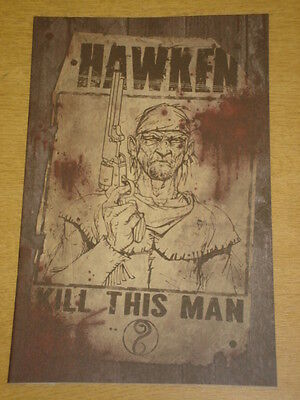 Hawken #1 Incentive Wanted Poster Cover 2011 Idw Timothy Truman