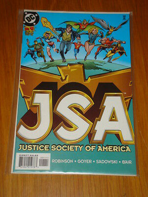 Justice Society Of America #1 Vol 1 Dc Comic Jsa August 1999