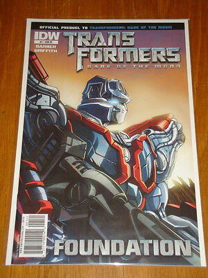 Transformers Dark Of The Moon Foundation #1 Variant Ri Cover Idw Prequel