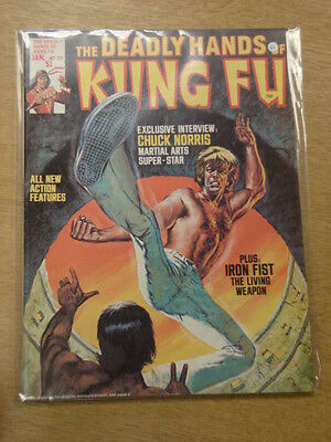 Deadly Hands Of Kung Fu #20 1976 Jan Vf Curtis Us Magazine Chuck Norris