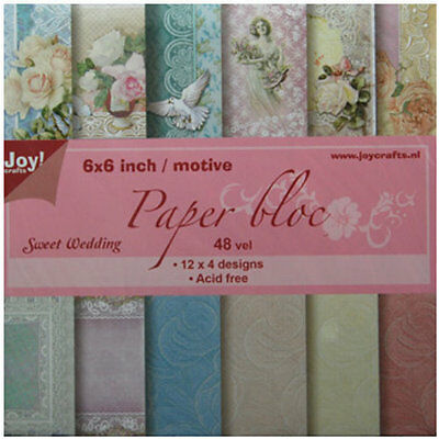 Motivpapier -  Sweet Wedding  - 48 Bögen / 12 Designs  15x15 cm  JoyCrafts