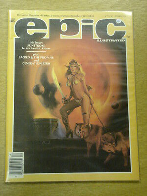 Epic Illustrated #21 1983 Dec Vf Marvel Us Magazine