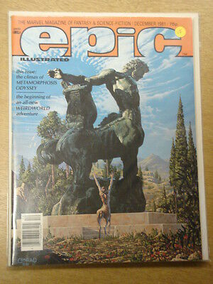 Epic Illustrated #9 1981 Dec Vf Marvel Us Magazine