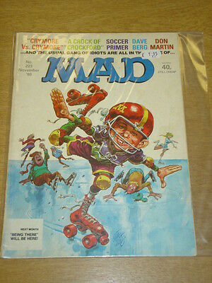 Mad Magazine #223 1980 Nov Fn Thorpe And Porter Uk Magazine Crymore