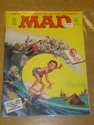 Mad Magazine #258 1983 Oct Vf Thorpe And Porter Uk Magazine Knight Rider