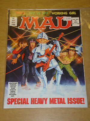 Mad Magazine #327 1989 July Vf Thorpe And Porter Uk Magazine Heavy Metal Issue