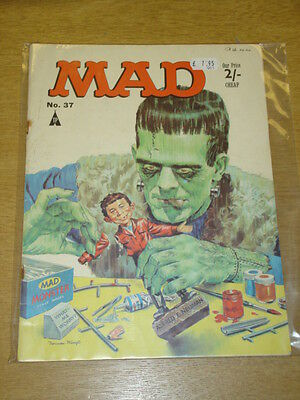 Mad Magazine #37 Vg+ Thorpe And Porter Uk Magazine Frankenstein Alfred E Neuman