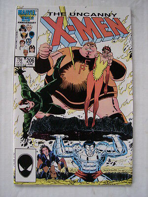 X-Men Uncanny #206 Marvel Comic High Grade June 1986