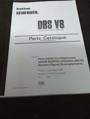 Aston Martin DBS V8 Parts catalogue