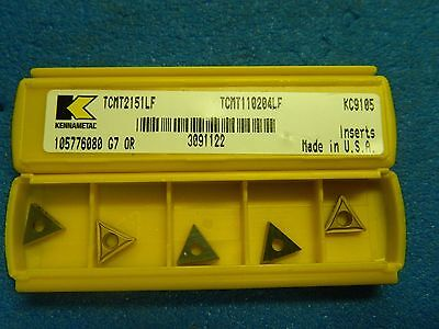 Kennametal Tcmt110204lf Tcmt2151lf Kc9105 3091122 Screw-On Turning Inserts QTY 5
