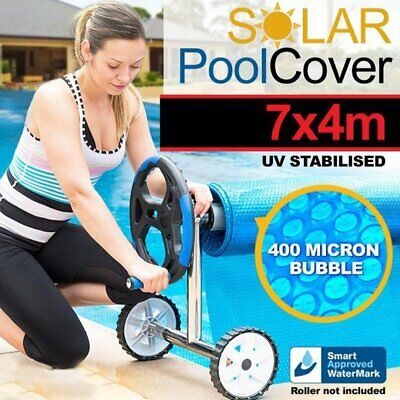 7m x 4m UV STABILISED SOLAR SWIMMING POOL COVER BUBBLE BLANKET HEATER 400 MICRON
