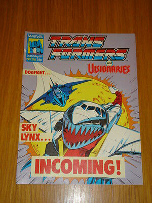 Transformers British Weekly #218 Marvel Uk Comic 1989