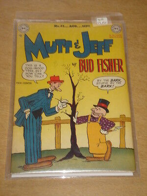 Mutt And Jeff #41 Fn/vf (7.0) Dc Comics August 1949 **